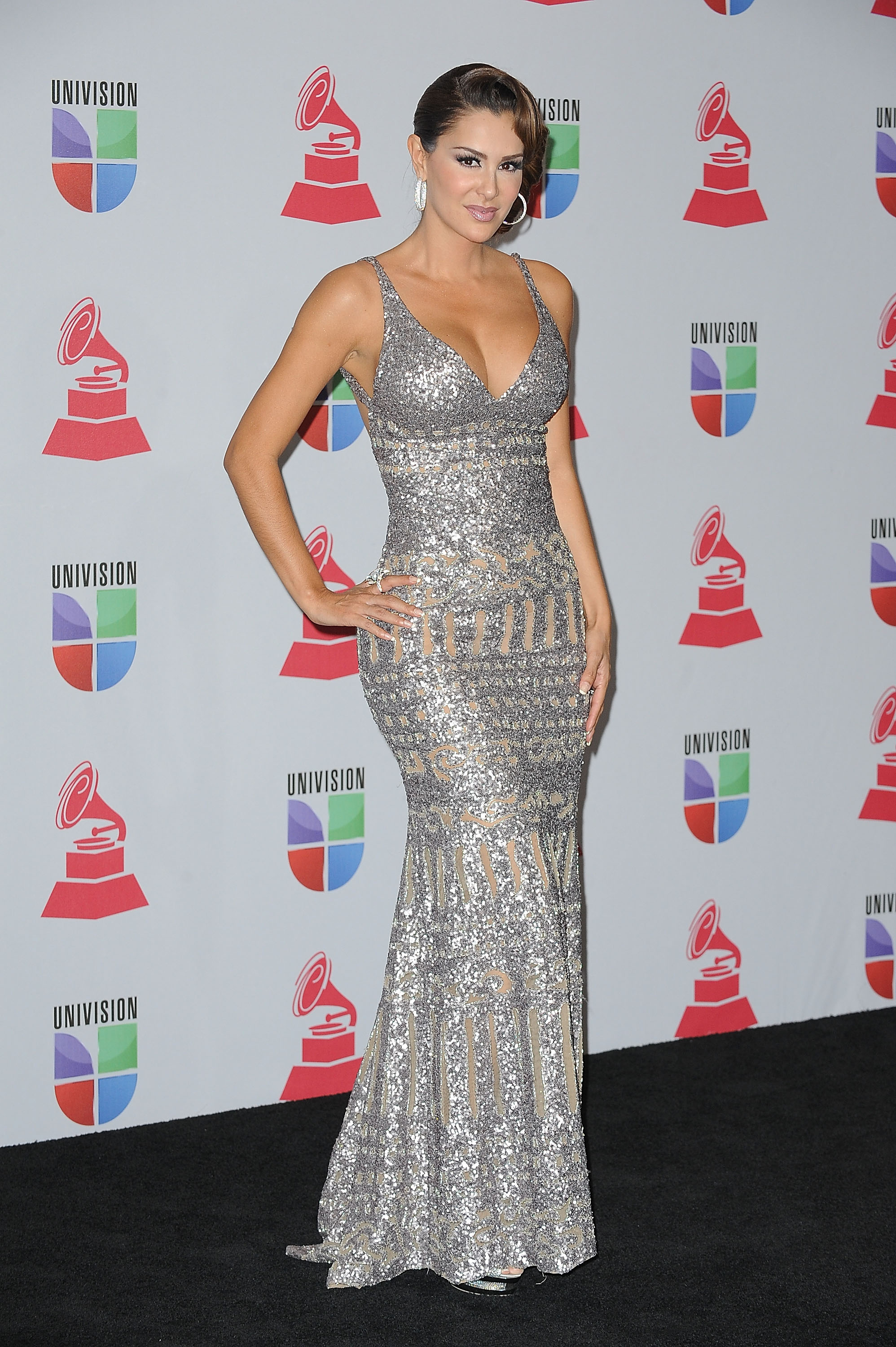 Celebrities arrive backstage during the The 13th Annual Latin Grammy Awards at the Mandalay Bay Resort and Casino in Las Vegas, Nevada. Pictured: Ninel Conde Ref: SPL460014  151112   Picture by: CFI / Splash News Splash News and Pictures Los Angeles:310-821-2666 New York:	212-619-2666 London:	870-934-2666 photodesk@splashnews.com